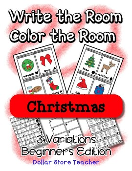 Write the Room / Color the Room ~ Beginner Version - Preschool ~ Christmas
