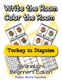 Write the Room / Color the Room ~ Preschool ~ Thanksgiving