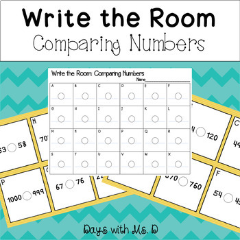 Write the Room: Comparing Numbers