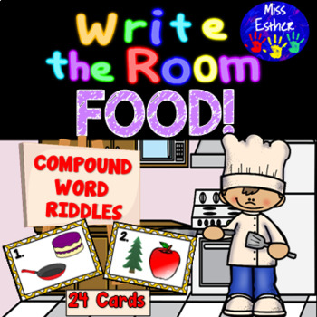 Write the Room Compound Word Riddles - FOOD!
