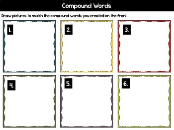 Write the Room - Compound Words