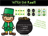 Write the Room - Counting, Addition, Subtraction St. Patri