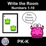 Count the Room Numbers 1-10 - Baby Monsters