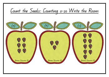 Write the Room - Counting up to 20 - Apple Theme