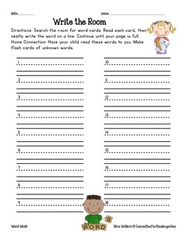 Write the Room Daily 5/Center Task