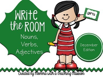 Write the Room : December Edition Nouns, Verbs, Adjectives