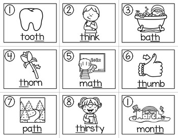 Write the Room (Digraphs: ch, th words)