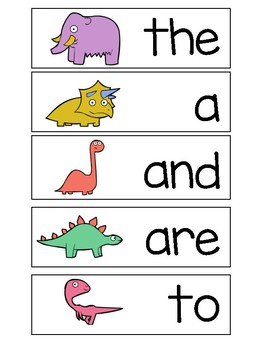 Write the Room Dinosaurs K Trick Words