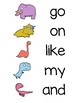Write the Room Dinosaurs Rainbow Words