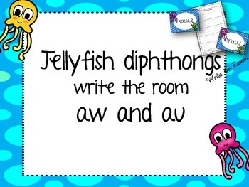 Write the Room Diphthongs (aw and au)