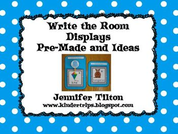 Write the Room Display Cards and Thematic Buttons:Pre-Made and Ideas