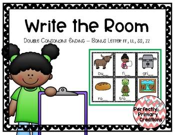 Write the Room- Double Consonant Ending/Bonus Letter