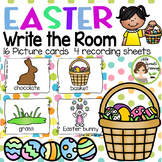 Easter Write the Room - 16 cards (four versions, four recording sheets)