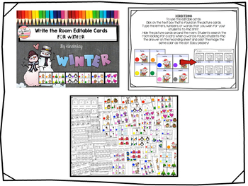 Write the Room Editable Cards BUNDLE for Little Kids