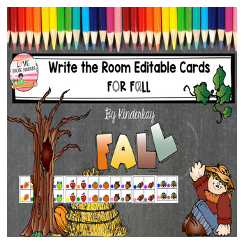 Write the Room Editable Cards for Fall