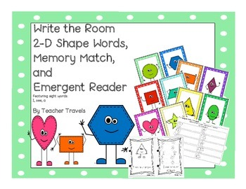 Write the Room, Emergent Reader, and Memory Match - 2-D Shapes