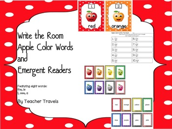 Write the Room, Emergent Reader, and Memory Match - Apple Colors