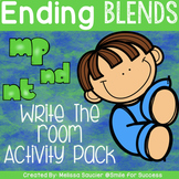 Ending Blends {NT, ND, MP}   Game and Printables
