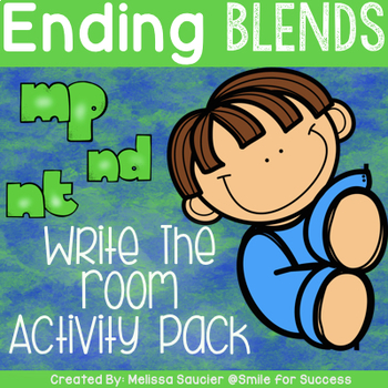 Write the Room Ending Blends {NT, ND, MP}