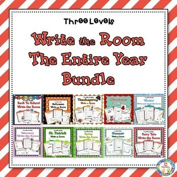 Write the Room ~ Entire Year K~2 (Differentiated)