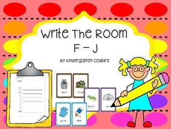 Write the Room F - J