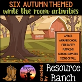 Fall Activities: Write the Room