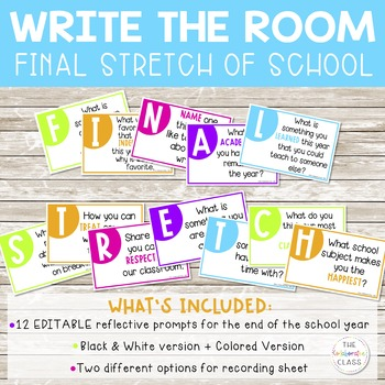 Write the Room: FINAL STRETCH task cards {After Spring Break or End of the Year}