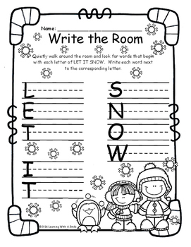 Write the Room FREE Let It Snow!