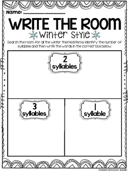 Write the Room FREE - Winter Themed