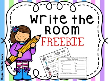 Write the Room FREEBIE:  12 Primer Dolch Sight Words