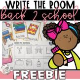 Write the Room FREEBIE   Back to School Literacy Centers