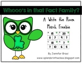 Write the Room: Fact Family Edition