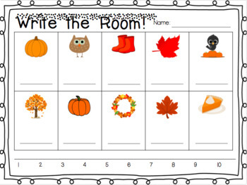 Count Around the Room - Fall 1-10