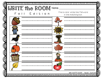 Write the Room (Fall Edition)