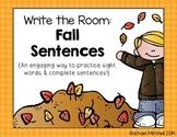 Write the Room: Fall Sentences