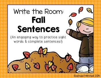 Write the Room: Fall Sentences