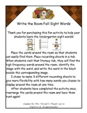 Write the Room Fall Sight Words Common Core Literacy Tubs