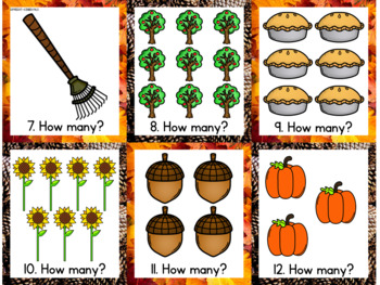 Write the Room- Fall Themed Counting Cards
