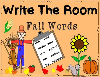 Write the Room Fall Words