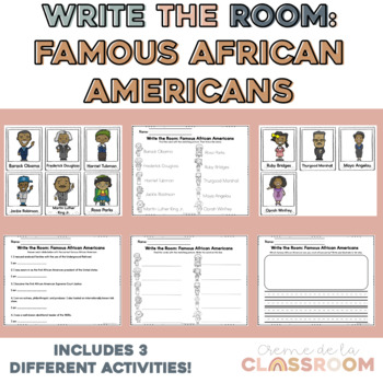 Write the Room: Famous African Americans