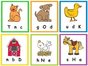 Write the Room Farm Yard Fun-Differentiated Letter/Sound Fun For CCSS