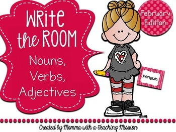 Write the Room : February Edition Nouns, Verbs, Adjectives