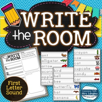 Write the Room First Sound/Letter Recognition