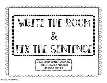 Write the Room & Fix the Sentence