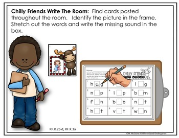 Write the Room For CVC/CCVC/CVCC Words-January-Differentiated