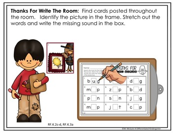 Write the Room For CVC/CCVC/CVCC Words-November-Differentiated