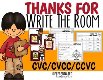 Write the Room For CVC/CCVC/CVCC Words-November-Differentiated