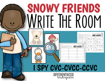 Write the Room For I Spy CVC/CCVC/CVCC Words-Janauary-Differentiated