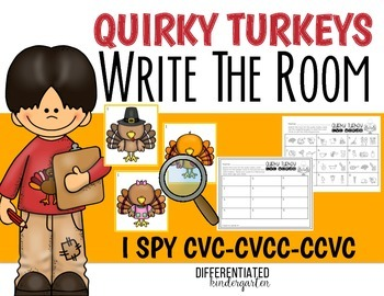 Write the Room For I Spy CVC/CCVC/CVCC Words-November-Differentiated