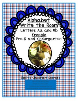Write the Room Freebie for Pre-K and Kindergarten